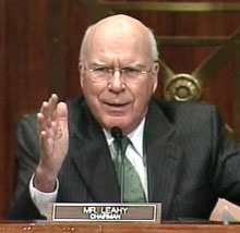 Senator Patrick Leahy, D-Vermont heads up the Senate Judiciary Committee oversight hearings on federal marijuana policy